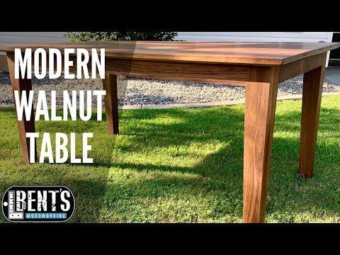 Modern Walnut Table Build // PLANS AVAILABLE