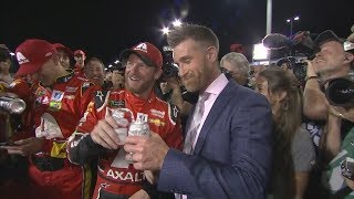 Dale Earnhardt Jr. and Marty Smith interview after Dale Jr.'s final race | ESPN