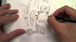 Drawing No Jutsu: How to draw Naruto Bijuu Mode うずまきナルト 尾獣