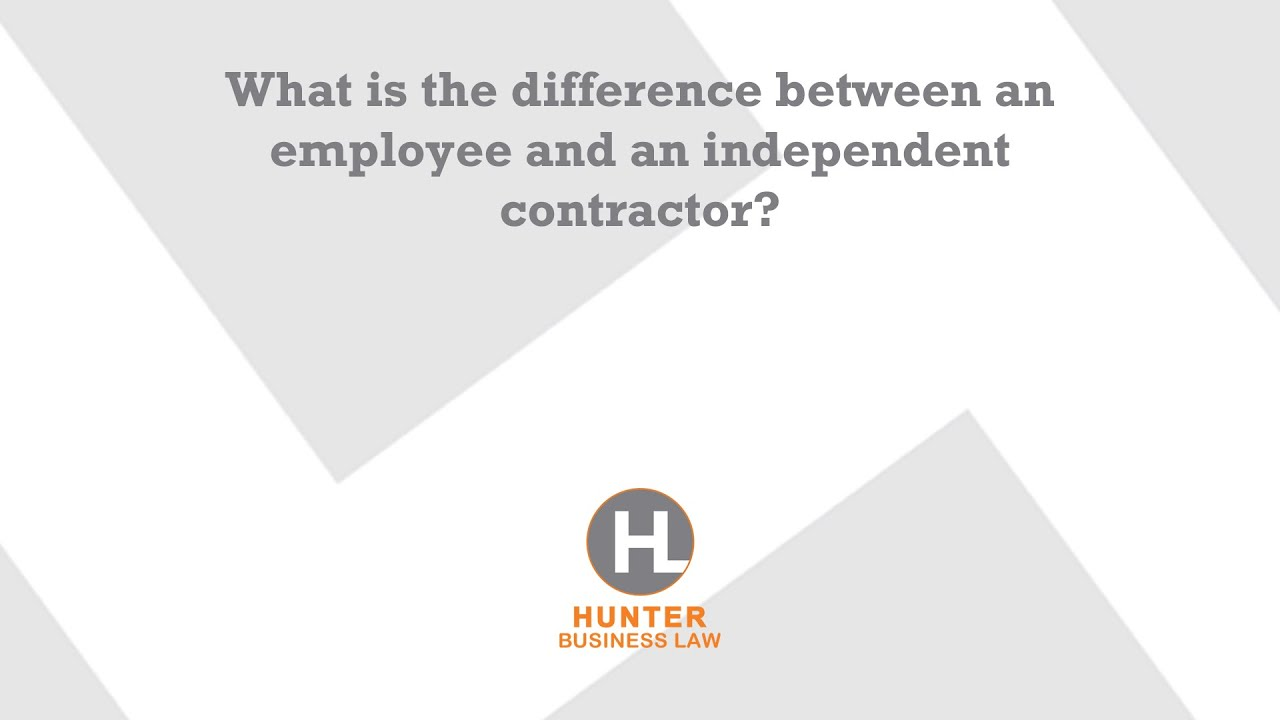 1 is mary an independent contractor or an employee describe the The pros and cons of hiring: employee vs independent contractor by laura sherman | small business [this article is a piece of part 11 of our smart and simple guide to starting a business - scroll to the end to see the other parts.