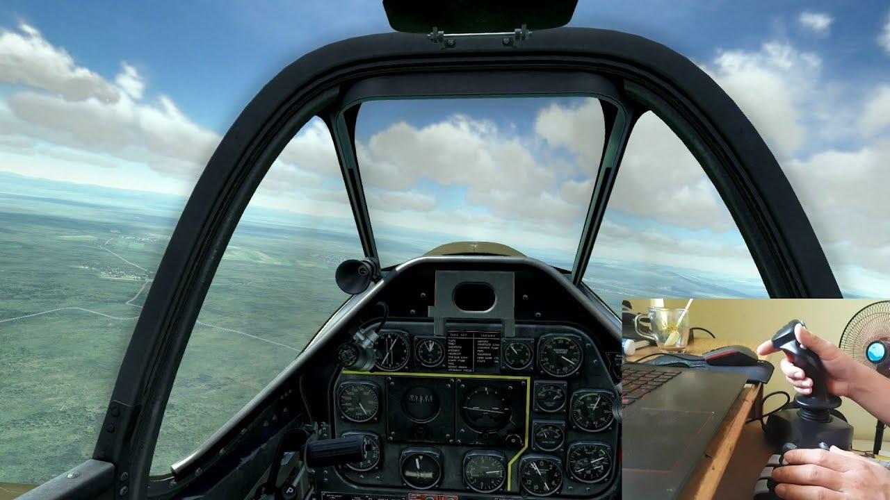 Chơi game mô phỏng lái máy bay phải có Joystick mới vui.