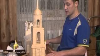 Умелец из Петропавловска из спичек строит храмы и церкви
