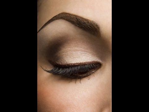 Легкий макияж для карих глаз видео