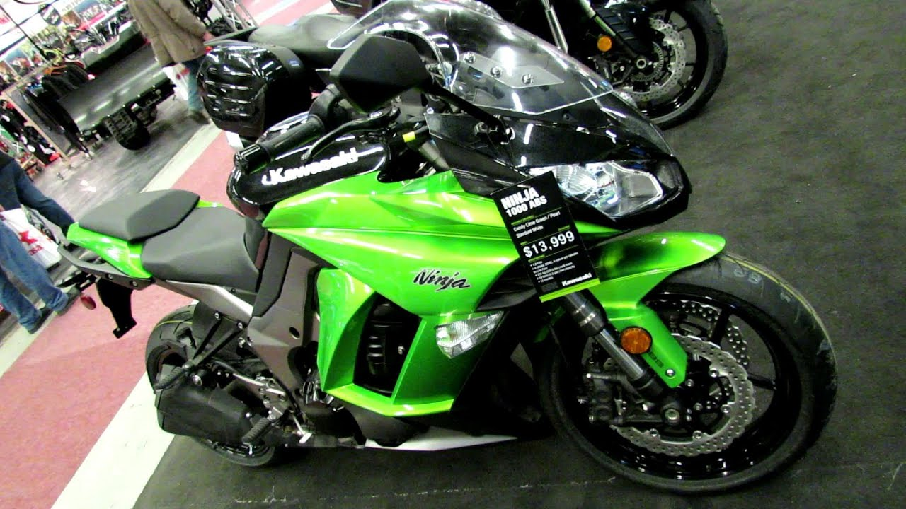 2013 Kawasaki Ninja 1000 ABS Lime Green  Walkaround  2013