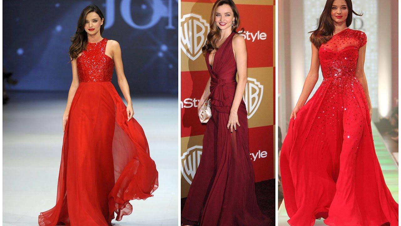 Dress Like Miranda Kerr Celebrity Red Carpet Dresses for Sale - YouTube