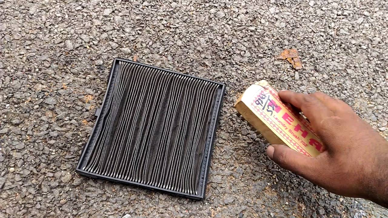 how to clean replace air conditioner filter in hundai xcent youtube. Black Bedroom Furniture Sets. Home Design Ideas