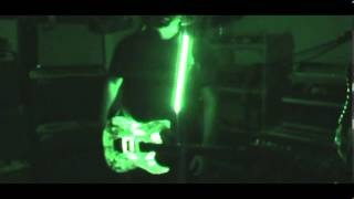 led lights in ibanez jem and led guitar strap by scott grove