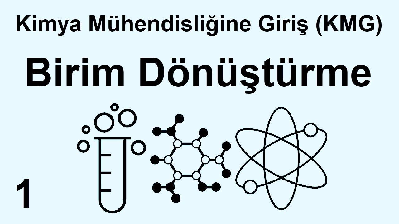 Kimya Mühendisliğine Giriş (KMG) Ders 1 – Giriş – Birim Dönüştürme