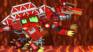 Fire Truck Dino - Dino Robot Transform General Mobilization Gameplay
