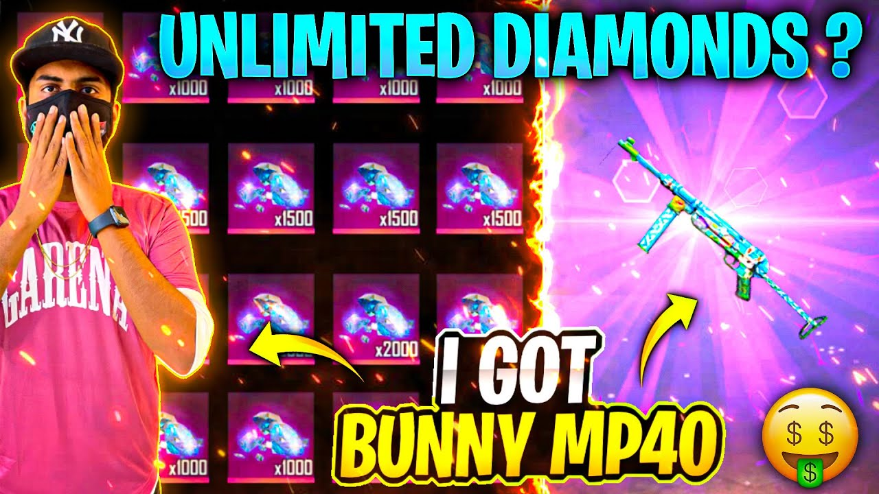 I Got Bunny Mp40  And Angelic Pant Permanent 😱 Eve And Adam Rare Character ? - Garena Free Fire
