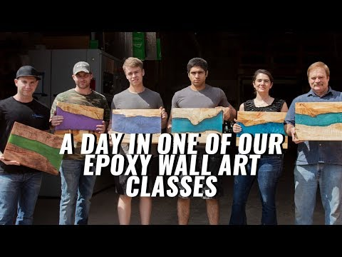 A Day in Our Epoxy Wall Art Class