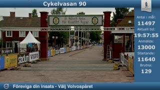 Alla målgångar från Cykelvasan 90 lördag 12 augusti 2017