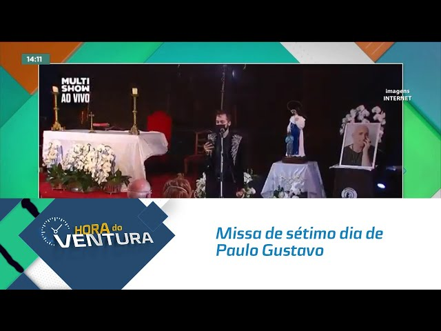 Missa de sétimo dia de Paulo Gustavo foi realizada no Cristo Redentor