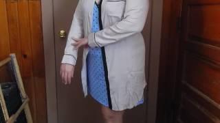 Yulee Women's Long Sleeve Button Down Night Shirt Boyfriend Style Sleepshirt