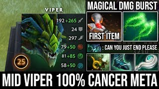 CANCER VIPER IS BACK!!! 100% Disgusting Meta 9Min Atos & Insane Magical Burst Deleted Everyone DotA2