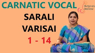 Sarali Varisai 1 - 14 (All three speeds)<