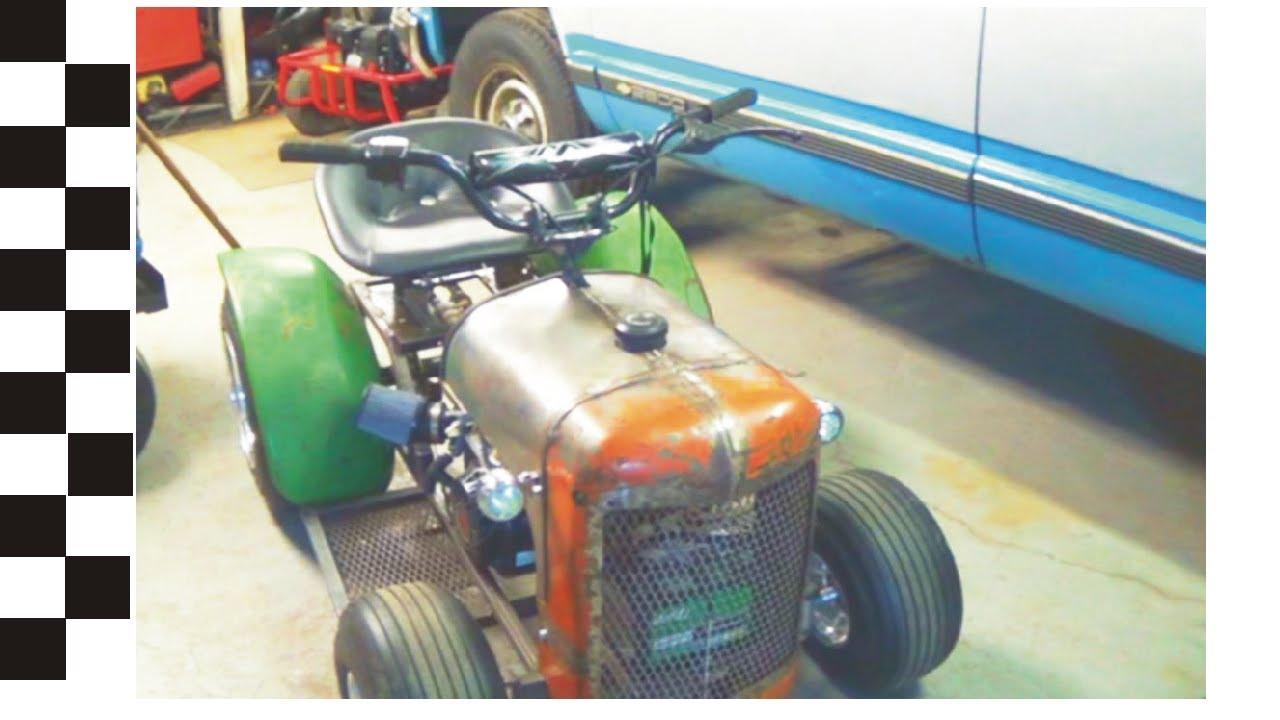 Custom Racing Tractors : Custom built racing mower tread network with