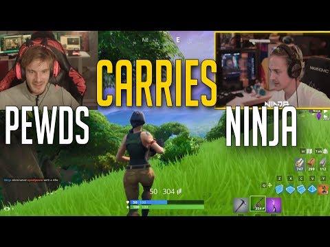 [Full Replay] Pewdiepie carries Ninja | Friday Fortnite