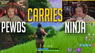 [Full Replay] Pewdiepie carries Ninja | Friday Fortnite