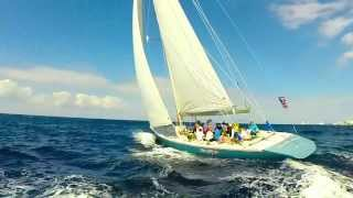 Sailing 12 Meter Racing Boat in Cozumel