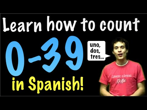 Learn Spanish! - Count from 0 to 39!