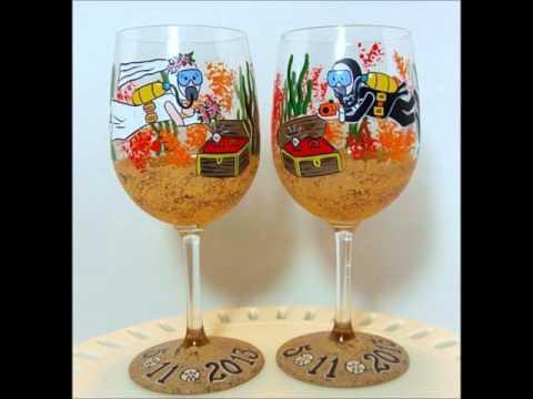 Kudos Kitchen Hand Painted Glassware