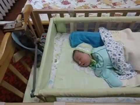 Укачиватель детской кроватки из автостеклоочистителя своими руками