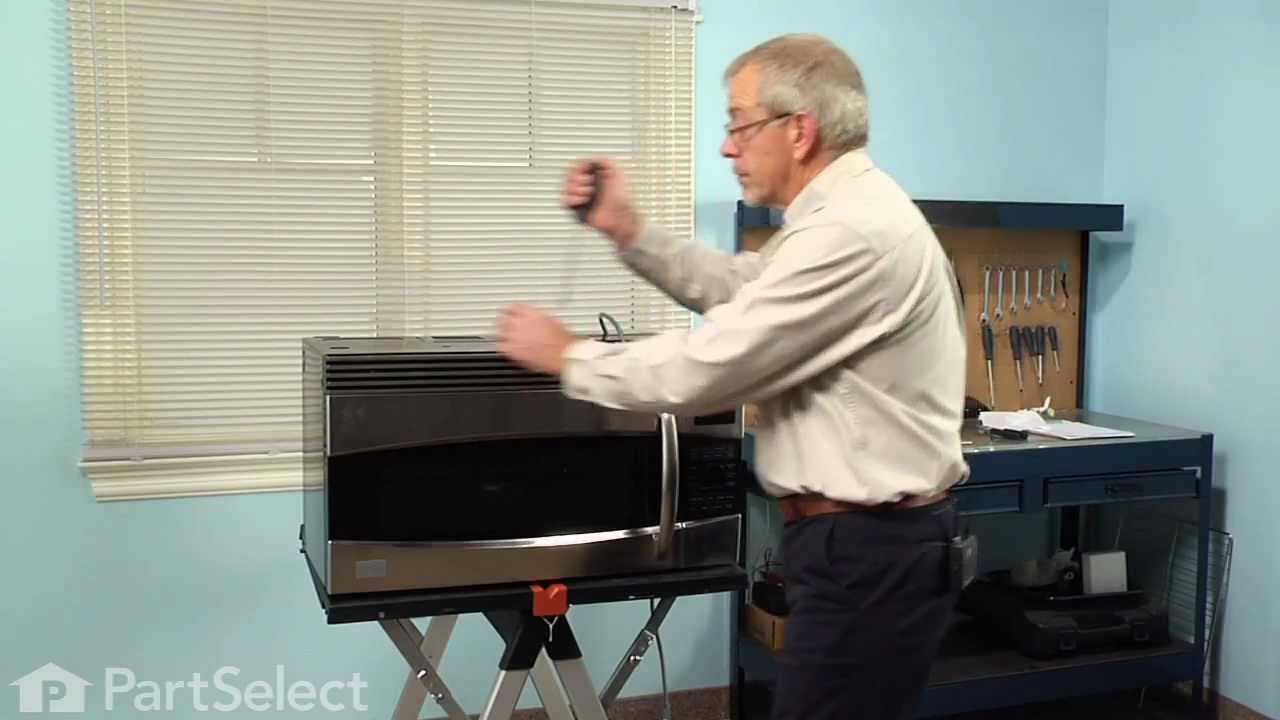 microwave repair replacing the halogen light bulb ge part wb25x10019
