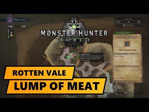 Monster Hunter World Fleischklumpen Lump Of Meat Rotten Vale Ps4pro Hdr German Youtube