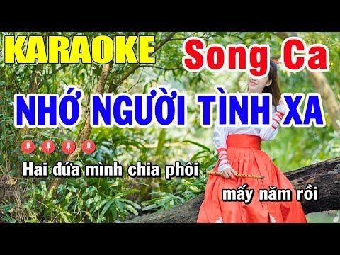 Karaoke Nhớ Người Tình Xa Song Ca Nhạc Sống | Trọng Hiếu