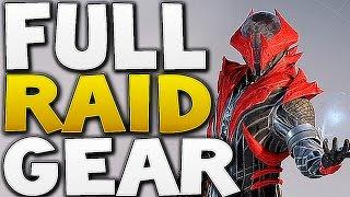 Destiny - FULL WARLOCK RAID GEAR ! (Kings Fall)
