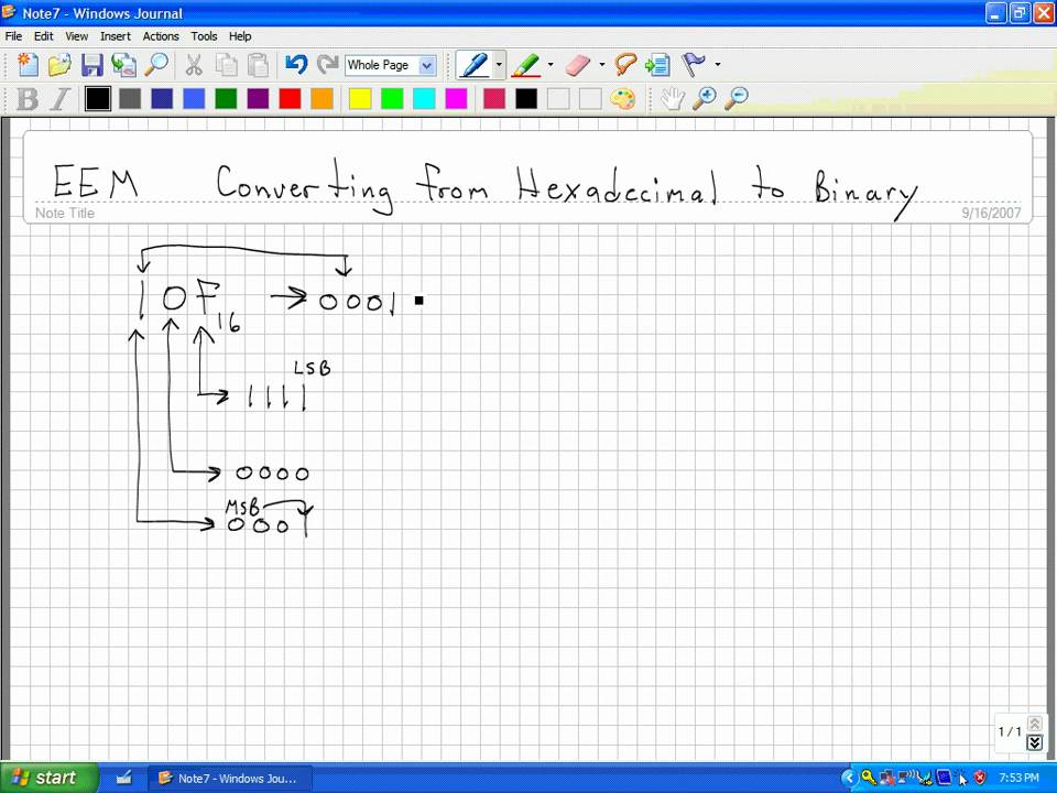 How to Convert a Hexadecimal Number to a Binary Number - YouTube