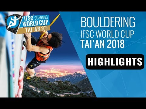 IFSC Climbing World Cup Tai'an 2018 - Bouldering Finals Highlights