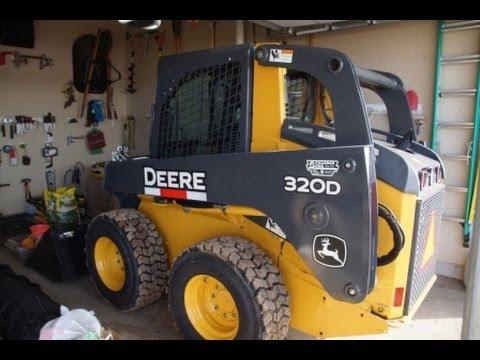 John Deere Skid Steer >> John Deere Skid Steer 320D with LifeMaster Tires - YouTube