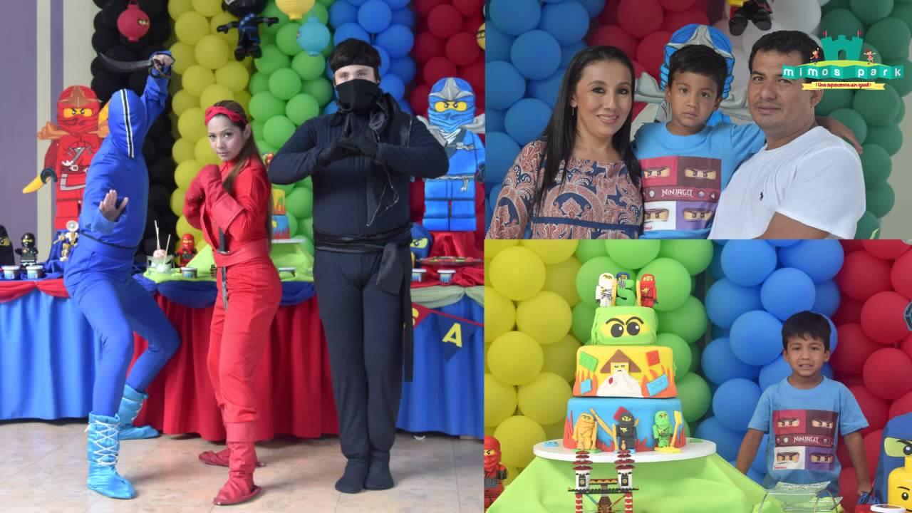 Fiesta de lego ninjago cumple de santiago 5 a os youtube - Cosas para fiestas de cumpleanos ...