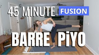 45 MIN Barre & PiYO Workout | At Home Low Impact | Strength & Tone Total Body