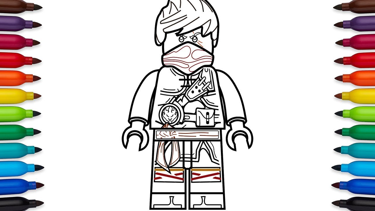 How to draw Lego Ninjago - Kai (Hands of Time) - coloring pages ...