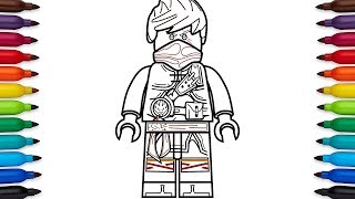 How to draw Lego Ninjago - Kai (Hands of Time) - coloring pages