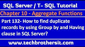 How to find duplicate records in table sql - YouTube