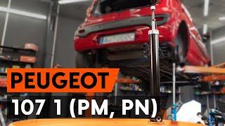 Kako zamenjati zadnji amortizer naPEUGEOT 107 1 (PM, PN) [VODIČ AUTODOC]