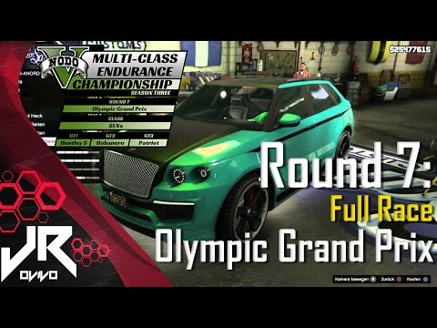 GTA V LIVE MCEC Season 3 PC  - Round 7: Olympic - GT1 - Huntley S - Full Race [Twitch]