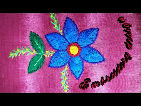 Embroidery flowers design fancy stitch