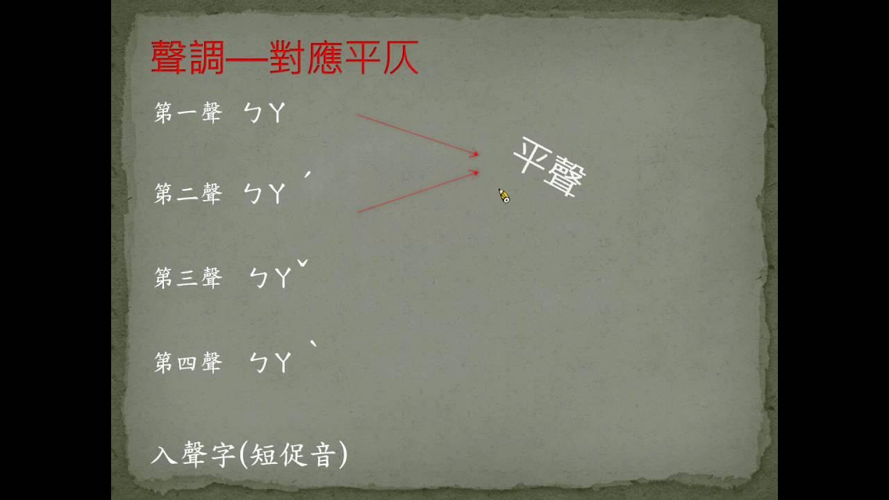 銀鑠開講─國中國文─近體詩1--聲調篇 - YouTube