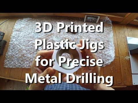 3D Printed Plastic Drilling Jig for Accurate Holes in Metal