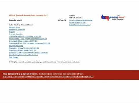 Premium Financial Model - BSE Ltd. (Bombay Stock Exchange)