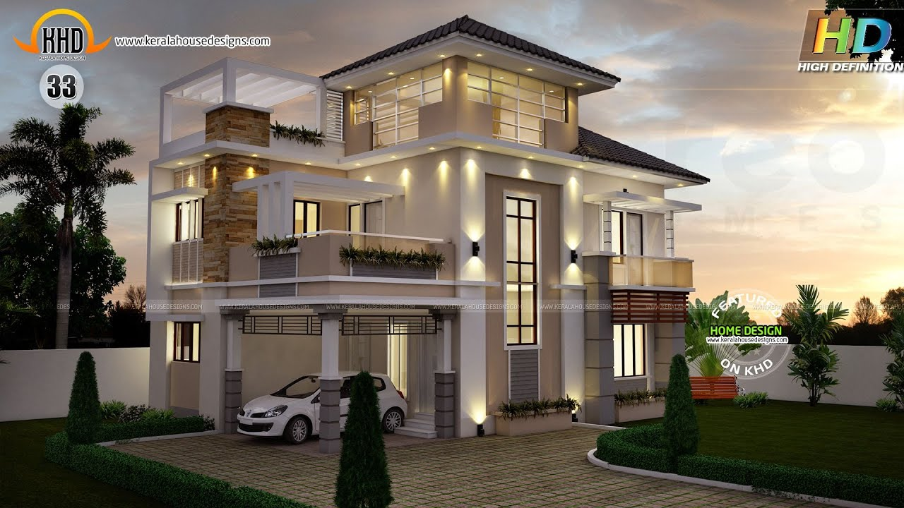 New house plans for june 2015 youtube for Latest architectural house designs