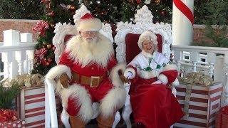 Santa and Mrs Claus Meet Guests at Epcot