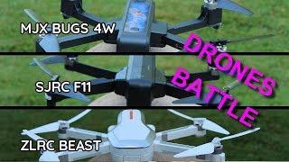 ZLRC BEAST vs SJRC F11 vs MJX BUGS 4 . Comparatif !! drones battle !