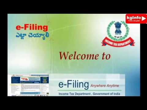 IncomeTax e-filing in telugu