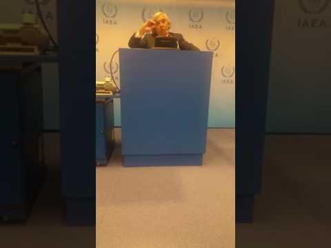 Ernest Moniz, US Energy Secretary addresses the media